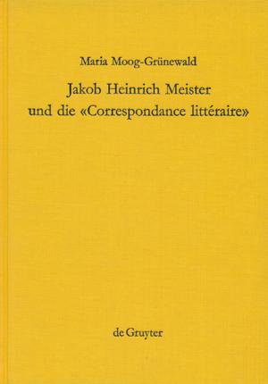 Jakob Heinrich Meister und die »Correspondance littéraire« - Ein Beitrag zur Aufklärung in Europa, Berlin/New York (Verlag Walter de Gruyter) 1989 (= Komparatistische Studien - Beihefte zu arcadia, 13).